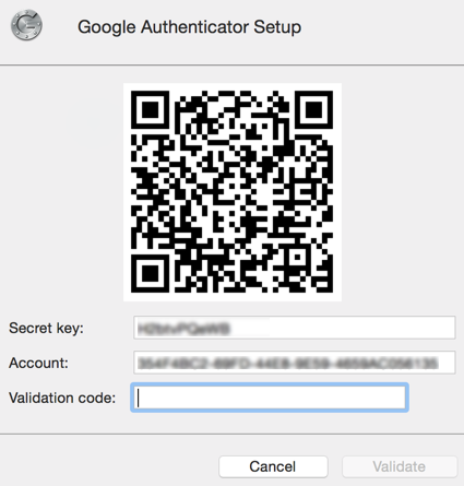 Google Authenticator Setup