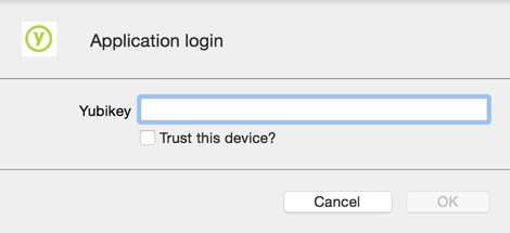 Yubikey Application login