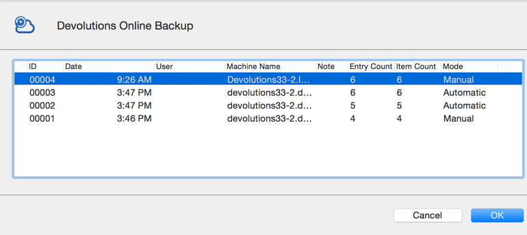 Devolutions Online Backup
