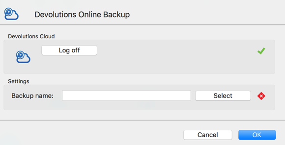Online Backup subscription