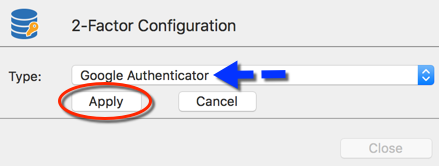 2-Factor Configuration - Google Authenticator